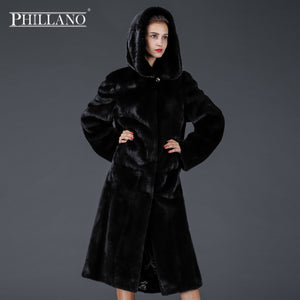 SALE 2017 Phillano Premium Women Elegant Chic Real Fur Coat Thick Winter Chothing Mink Scandinavia Denmark NAFA YG12055-115