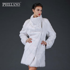 SALE PHILLANO 2017 Premium Women Mink Garment Natural Fur Coat Maten Denmark NAFA Warm Thick Fur Scandinavia  YG12007-90