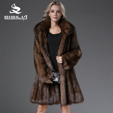SISILIA 2016 Most Luxurious Russian Natural Sable  Let Out  Coat Long Style Sable Fur 100% Real HandMade From Natural Fur