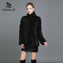 SISILIA 2017 New Mink Coats Women Winter Genuine Leather Fur Coats Short Mink Fur Mandarin Collor Warm Jackets