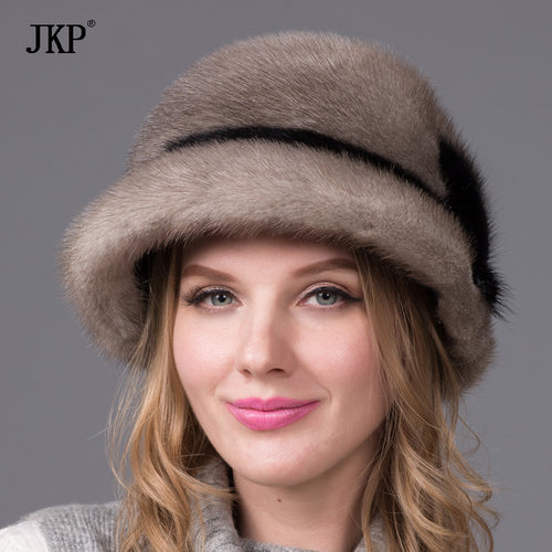 The new high-quality Russian sable mink hat brim autumn and winter Jurchens whole warm fur hat DHY-51