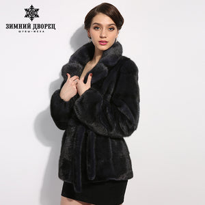 WINTER PALACE New style ladies' fashion mink coats mink fur coat from natural fur mink fur coat female mink fur skins whole