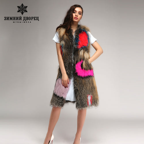 Winter palace classic Fashion fox fur vest,Winter real fur vest women,Knitted fur vest women,sell well vest fox