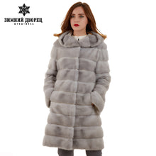 With hat 2016 best seller sapphire color fur coat popular fur coats for women designer style mink fur coat double face fur coat