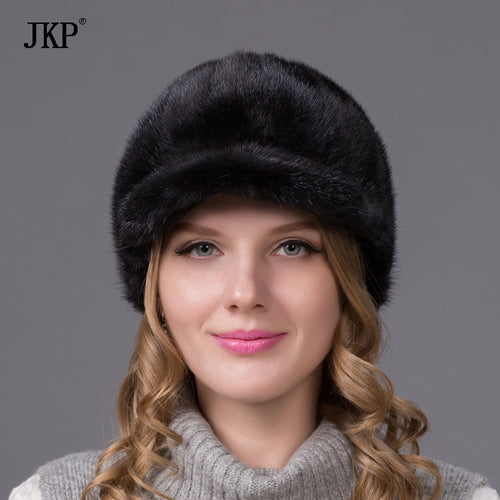 Women Selling Precipitated Adult Solid New Knight Fur Hat Hats For Winter Cap Genuine Luxury Natural Water With Sale PD-01