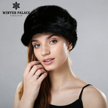 Women fur hat for winter whole real mink fur cap 2017 luxury fashion female mink beanies good quality fur hats for women