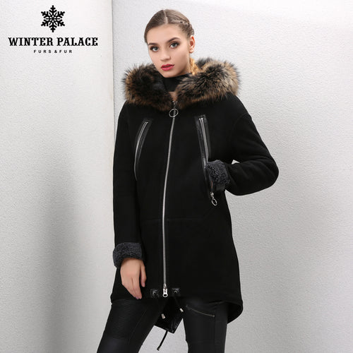 Sheep Shearling Coat. Young women fur coat Fashion Slim Fur women winter jacket winter coat women sheepskin coat Brown fur coat WINTER PALACE