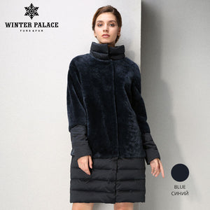 Sheep Shearling Coat.Sheep Shearling Coat.  Genuine Leather women fur coat Double-faced Fur winter women sheepskin coat Sheep Shearing Coat Women's down coat