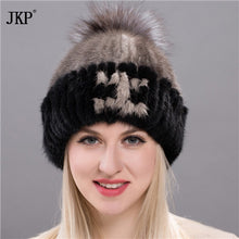 Fur Mink Grass Lady Girl Hats for Women Manual High Sew Archive Winter Keeping Hot Fox Female Tassel Hat Female  DHY17-18