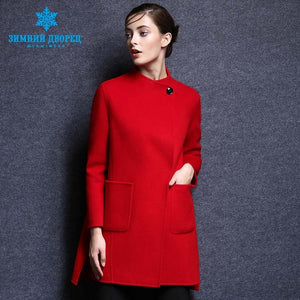 Cashmere Coat. 2016 popular fashion winter Long woman Coat cashmere coat female Turn-down Collar wool women coat top grade wool coat