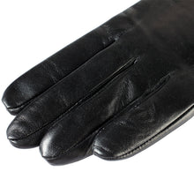 women leather glove long,Length 45-48CM,Genuine Leather,Cotton,Adult,Black, leather gloves,Free shipping