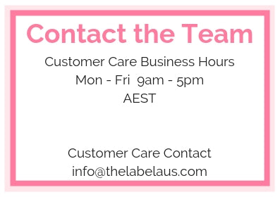 Contact the team The Label Aus
