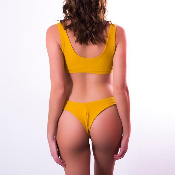 Gigi Bottoms Mustard Ribbed