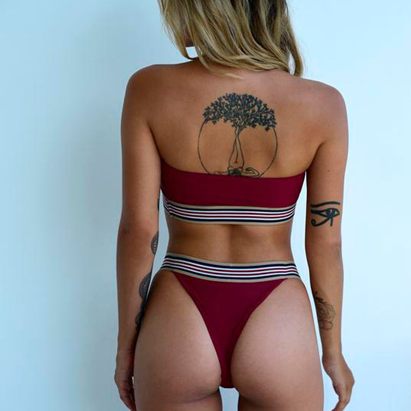 Santorini Top / Burgundy