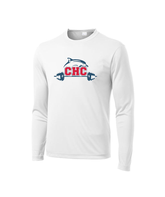 Long Sleeve Performance Tee / White / Cape Henry Strength & Conditioning