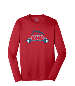 Long Sleeve Performance Tee / Red / Cape Henry Strength & Conditioning