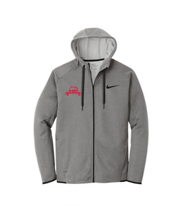 Nike Therma-FIT Textured Fleece Full-Zip Hoodie / Grey Black / Cape Henry Strength & Conditioning