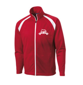 Tricot Track Jacket / Red-White / Cape Henry Strength & Conditioning