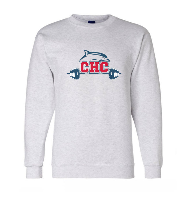 Fleece Crewneck Sweatshirt / Ash / Cape Henry Strength & Conditioning