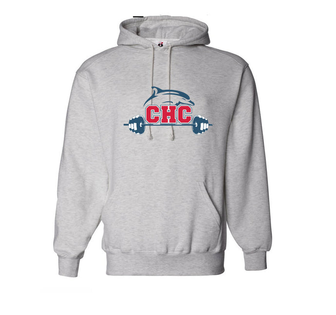Essential Fleece Pullover Hooded Sweatshirt / Athletic Heather / Cape Henry Strength & Conditioning