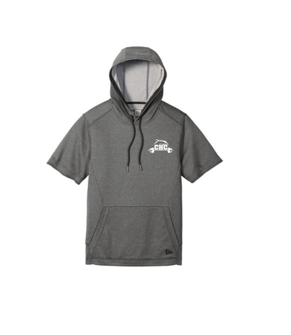 Performance Terry Short Sleeve Hoodie / Graphite / Cape Henry Strength & Conditioning