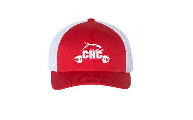 Low Pro Trucker Cap / Red / Cape Henry Strength & Conditioning