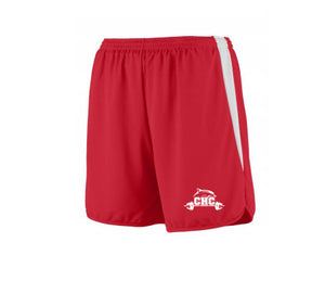 Velocity Track Shorts / Red / Cape Henry Strength & Conditioning