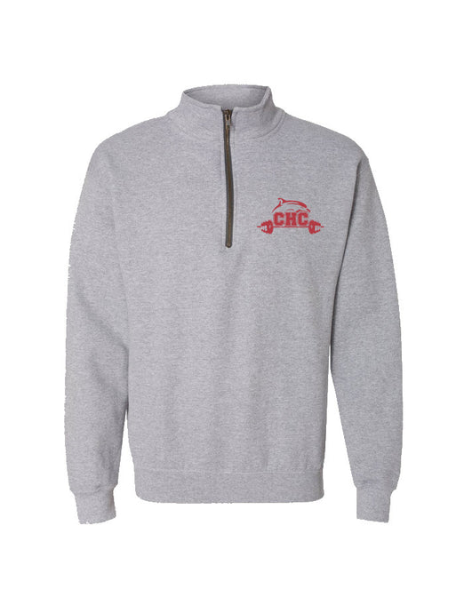 Heavy Blend Vintage Quarter-Zip Sweatshirt / Sport Grey / Cape Henry Strength & Conditioning