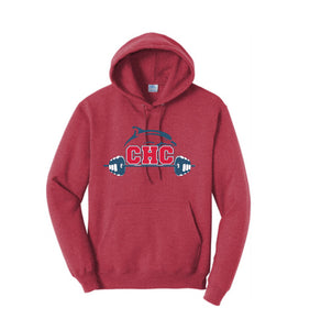 Core Fleece Pullover Hooded Sweatshirt / Heather Red / Cape Henry Strength & Conditioning