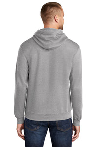 Fleece Hooded Sweatshirt / Athletic Heather Grey / FC Tennis