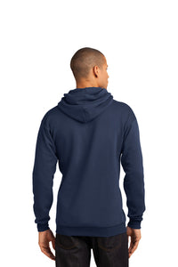 Fleece Hooded Sweatshirt / Navy / Independence Volleyball - Fidgety