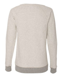 Champion French Terry Boat Neck Sweatshirt / Oatmeal Heather & Gray / IMS Field Hockey - Fidgety
