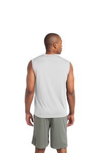 Sleeveless PosiCharge Performance Tee / White / Stingrays Swim Team - Fidgety