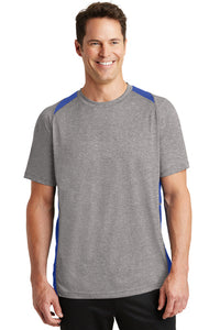 Heather Colorblock Performance Tee / Heather & Royal / Plaza Baseball - Fidgety