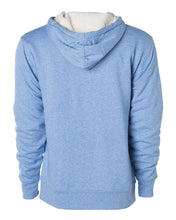 Unisex Sherpa-Lined Hooded Sweatshirt / Sky Heather / Saints-[product_collection]