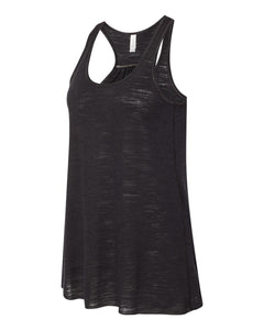 Women's Flowy Racerback Tank / Black / Little Neck Swim - Fidgety