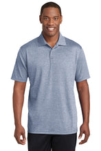PosiCharge RacerMesh Polo/ Heather Navy / Tridents - Fidgety