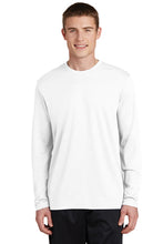 RacerMesh Long Sleeve Tee / White / Plaza Track - Fidgety