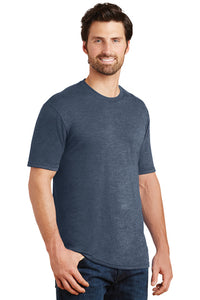 Unisex Triblend Crew Tee (Youth & Adult) / Navy Frost / Little Neck Swim - Fidgety