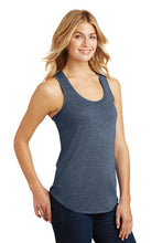 Ladies Tri-Racerback Tank / Gray / Tridents - Fidgety