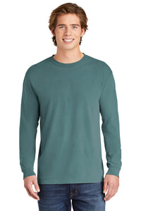 Comfort Colors Heavyweight Ring Spun Long Sleeve Tee / Ice Blue / Great Bridge High School Soccer