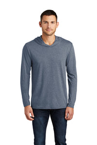 Long Sleeve T-Shirt Hoody / Gray Frost / Larkspur One Act Play - Fidgety