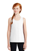 Girls Tank Top / White / Bolts Swim - Fidgety