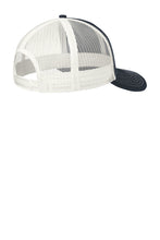 "Mesh ""Trucker"" Hat / Deep Navy & White / Tridents - Fidgety"