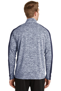 Electric Heather PosiCharge 1/4-Zip Pullover / True Royal Electric / Norview CC - Fidgety