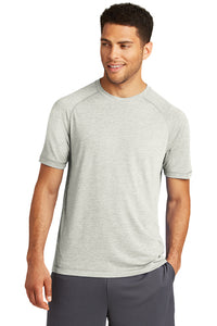 PosiCharge Tri-Blend Wicking Raglan Tee / Light Gray Heather / Fidgety - Fidgety