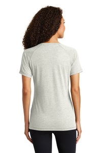 Tri-Blend Scoop Neck T-shirt/  Light Grey Heather / Larkspur Field Hockey - Fidgety
