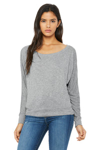 Women's Flowy Long Sleeve Tee / Athletic Grey / Lynnhaven Staff - Fidgety