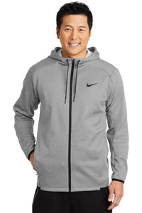 Nike Therma-FIT Fleece Full Zip Hoodie / Grey / Cape Henry Track & Field XC