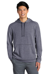 PosiCharge Tri-Blend Wicking Fleece Hooded Pullover / True Navy Heather / FC Lacrosse - Fidgety